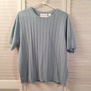 Alfred Dunner XL Seafoam Short Sleeved Sweater